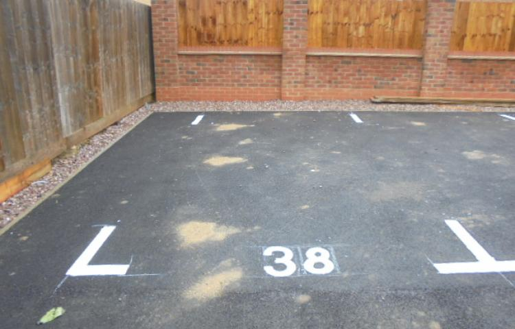 Allocated parking.